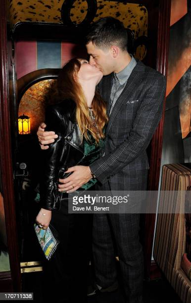 Josephine de la Baume and Mark Ronson attend the Jimmy Choo Esquire London CollectionsMen opening night party at Loulou's 5 Hertford Street on June...