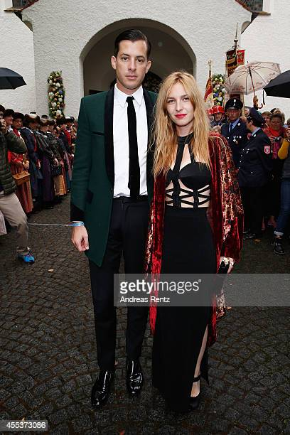 Josephine de La Baume and Mark Ronson attend the wedding ceremony of Princess Maria Theresia von Thurn und Taxis and Hugo Wilson at the St Joseph...