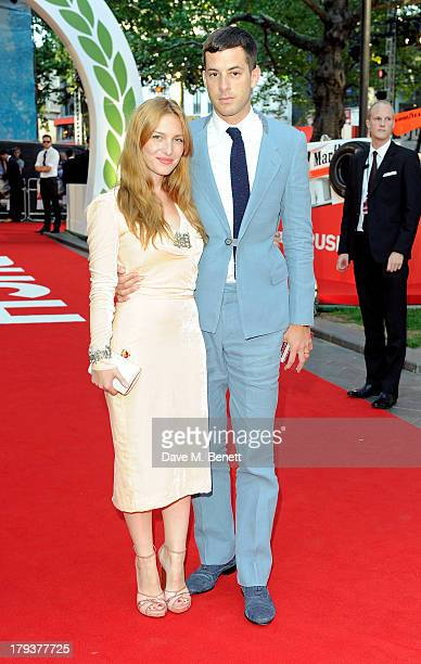 Josephine de la Baume and Mark Ronson attend the World Premiere of 'Rush' at Odeon Leicester Square on September 2 2013 in London England