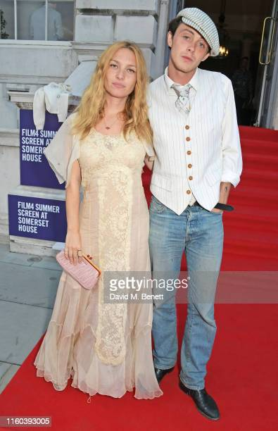 Josephine de La Baume and Sonny Hall attend the opening night of Film4 Summer Screen at Somerset House featuring the UK Premiere of Pain And Glory on...