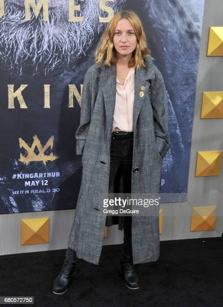 Josephine de la Baume arrives at the premiere of Warner Bros Pictures' 'King Arthur Legend Of The Sword' at TCL Chinese Theatre on May 8 2017 in...