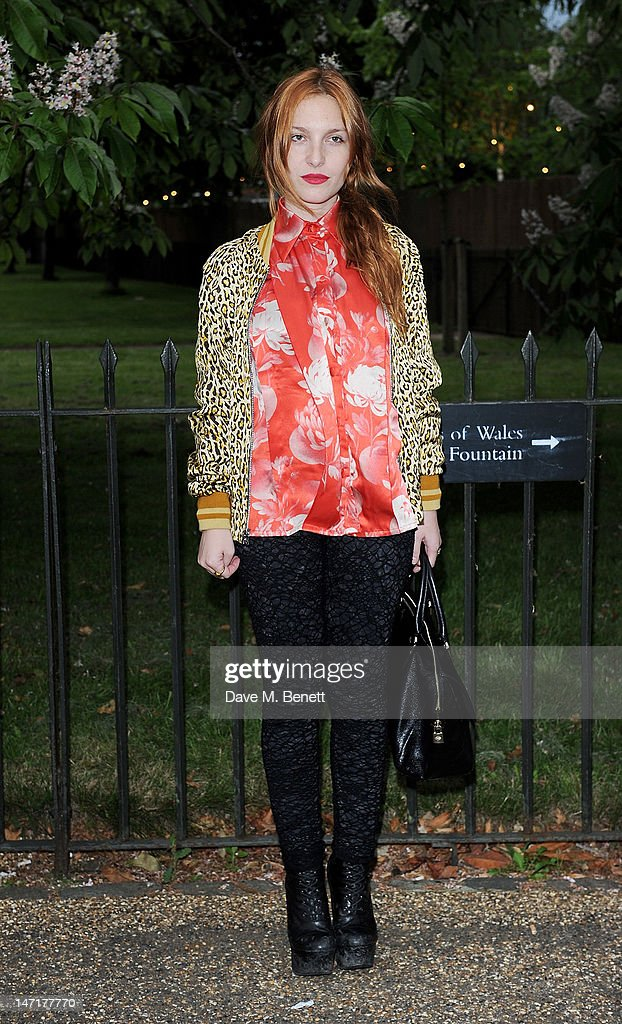 Josephine de la Baume arrives at the Serpentine Gallery Summer Party sponsored by Leon Max at The Serpentine Gallery on June 26, 2012 in London, England.