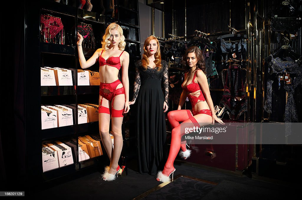Josephine De La Baume attends a photocall to open the new Agent Provocateur store on Grosvenor Street on December 11, 2012 in London, England.
