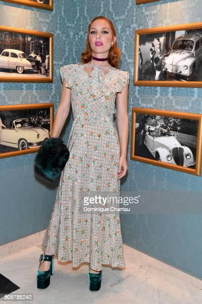 Josephine de La Baume attends Miu Miu Cruise Collection show as part of Haute Couture Paris Fashion Week on July 2 2017 in Paris France