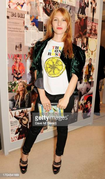 Josephine de la Baume attends the 12th birthday of New York jewellery house Faraone Mennella with guest of honour Patricia Field at their...