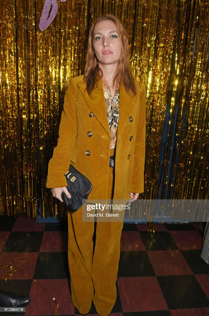 Josephine de La Baume attends the ALEXACHUNG Fantastic collection party on January 30, 2018 in London, England.