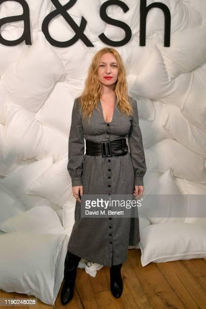 Josephine de La Baume attends the ba&sh x Doutzen Kroes launch of The Teddy Bag on November 26, 2019 in London, England.