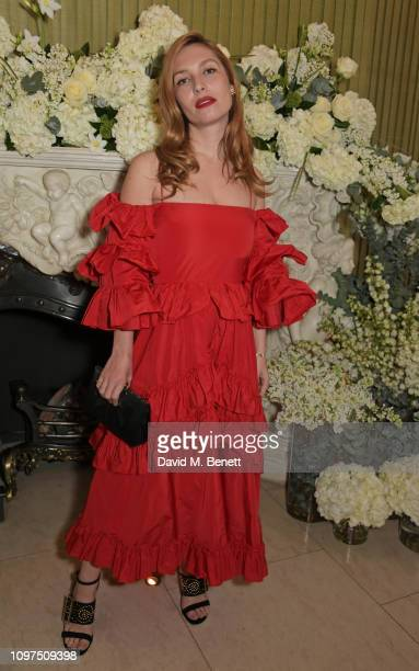 Josephine de La Baume attends the British Vogue and Tiffany Co Celebrate Fashion and Film Party at Annabel's on February 10 2019 in London England