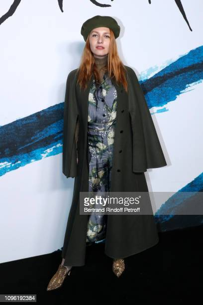 Josephine de la Baume attends the Dior Homme Menswear Fall/Winter 20192020 show as part of Paris Fashion Week on January 18 2019 in Paris France