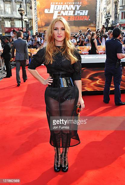 """Josephine de la Baume attends the """"Johnny English Reborn"""" UK premiere at Empire Leicester Square on October 2, 2011 in London, England."""