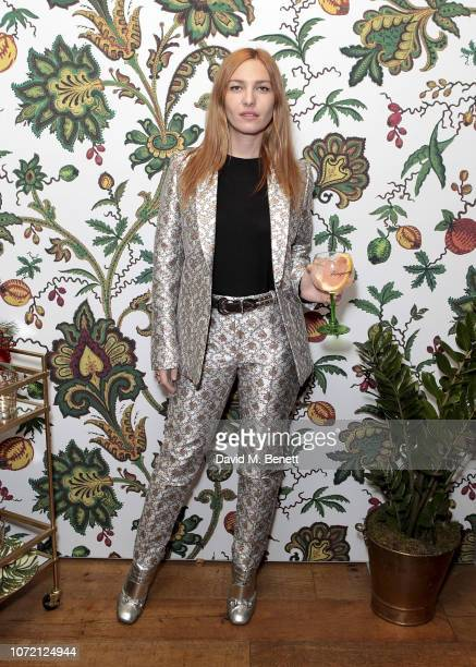 Josephine de la Baume attends the launch of Tanqueray No TEN and House of Hackney's exclusive partnership at Petersham Nurseries on December 12 2018...
