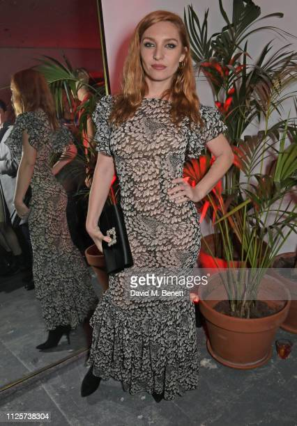 Josephine de La Baume attends the LOVE x The Store X party celebrating LOVE issue 21 supported by Perrier Jouet at The Store X on February 18 2019 in...