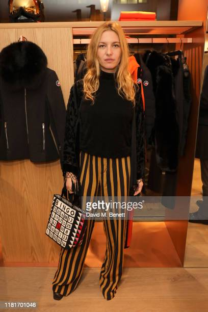 Josephine de La Baume attends the opening Fusalp's first UK store on October 17 2019 in London England