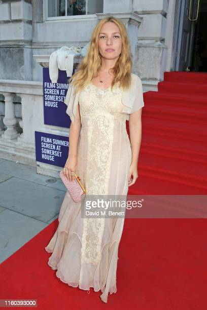 Josephine de La Baume attends the opening night of Film4 Summer Screen at Somerset House featuring the UK Premiere of Pain And Glory on August 8 2019...
