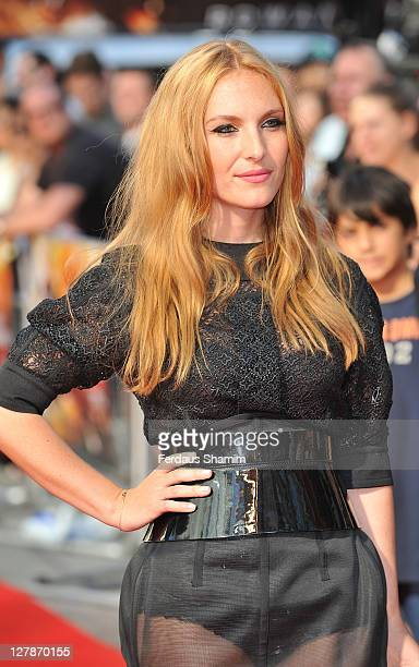 Josephine de la Baume attends the UK premiere of 'Johnny English Reborn' at Empire Leicester Square on October 2, 2011 in London, England.