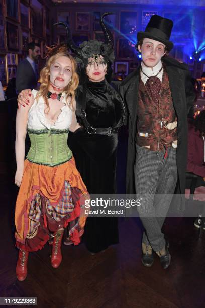 Josephine de La Baume, Fran Cutler and Sonny Hall attend The Cursed Voyage of HMS Berners in collaboration with Project 0 and Grey Goose at The...