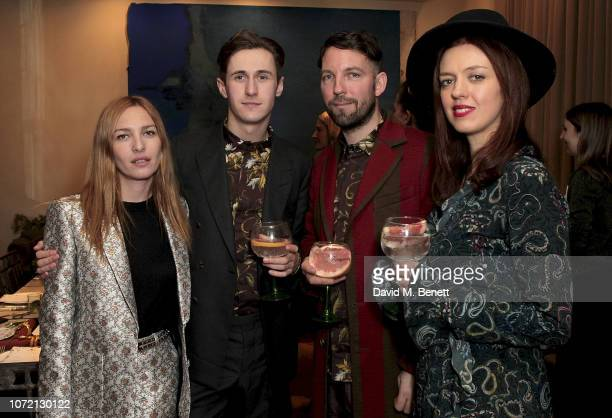 Josephine de la Baume Thomas Patterson Javvy M Royle and Frieda Gormley attend the launch of Tanqueray No TEN and House of Hackney's exclusive...