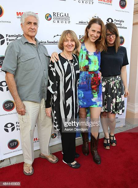 Josephine Decker and Ashley Connor arrive to the 2014 Filmmaker Tribute Awards during the Sarasota Film Festival at Sarasota Opera House on April 12...