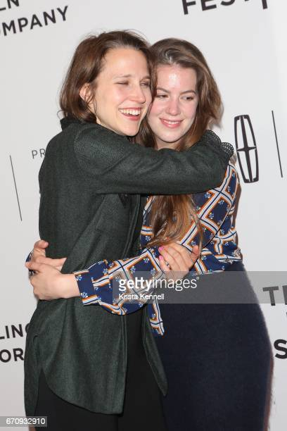 Josephine Decker and Ashley Connor attend the Flames Premiere during the 2017 Tribeca Film Festival at Cineopolis Chelsea on April 20 2017 in New...