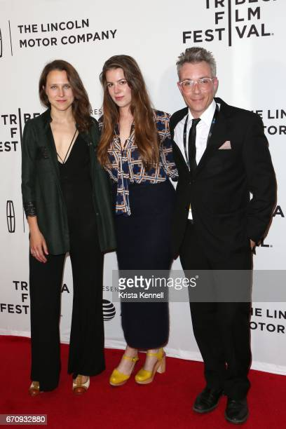 Josephine Decker Ashley Connor and Zefrey Throwell attend the Flames Premiere during the 2017 Tribeca Film Festival at Cineopolis Chelsea on April 20...