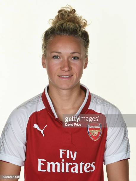 Josephine Henning of Arsenal Women during the Arsenal Women 1st Team Photocall at London Colney on September 6 2017 in St Albans England