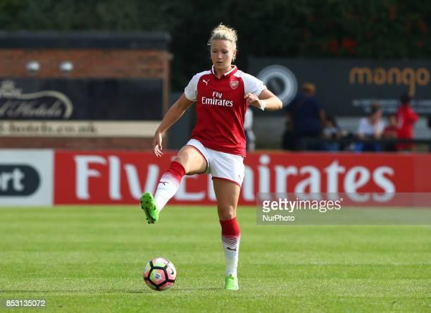 Josephine Henning of Arsenal Women during Women's Super League 1 match between Arsenal Women FC against Birmingham Ladies at Borehamwood Football...