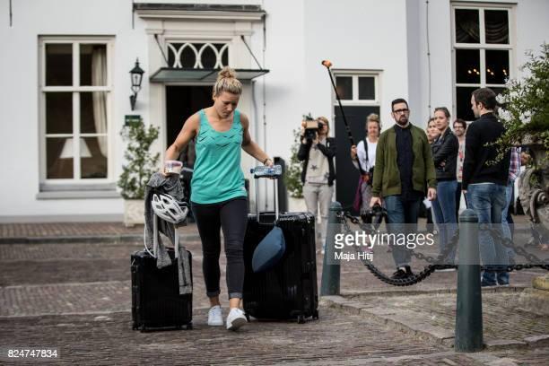 'SHERTOGENBOSCH NETHERLANDS JULY 31 Josephine Henning of Germany leaves the team base hotel on July 31 2017 in 'sHertogenbosch Netherlands