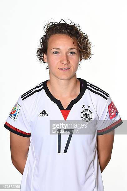 Josephine Henning of Germany poses during the FIFA Women's World Cup 2015 portrait session at Fairmont Chateau Laurier on June 3 2015 in Ottawa Canada