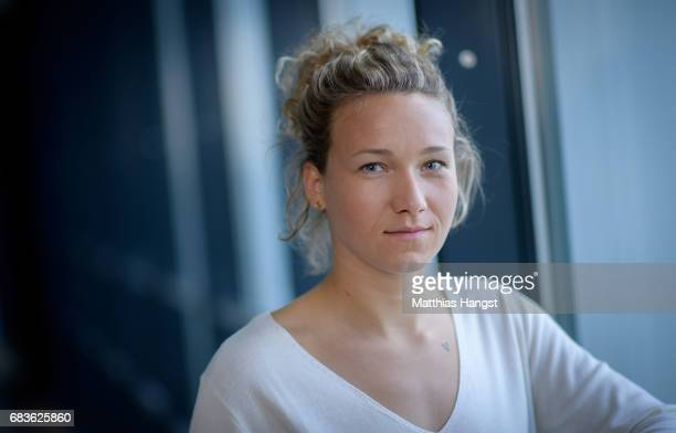 Josephine Henning of Germany poses for a portrait during the DFB Ladies Marketing Day at Commerzbank Arena on April 3 2017 in Frankfurt am Main...