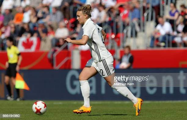 Josephine Henning of Germany runs with the ball during the women's international friendly match between Germany and Canada at Steigerwald Stadion on...