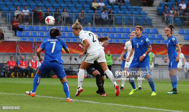Josephine Henning of Germany Women scores a goal to make it 10 during the UEFA Women's Euro 2017 match between Germany and Italy at Koning Willem II...