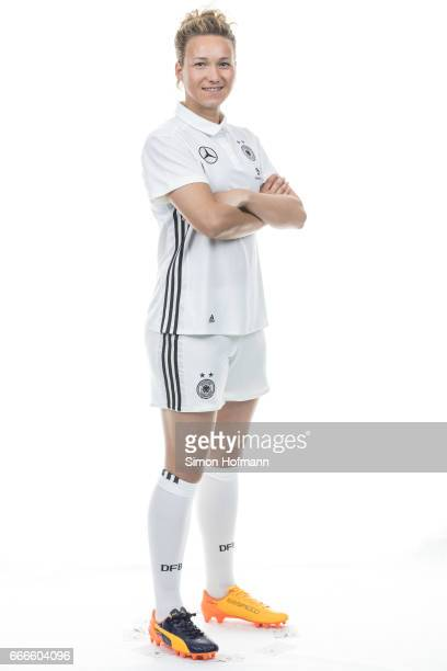 Josephine Henning poses during the DFB Ladies Marketing Day on April 3 2017 in Frankfurt am Main Germany