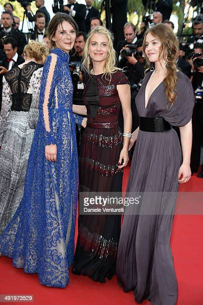 Josephine Jappy Melanie Laurent and Lou De Laage attend 'The Homesman' Premiere at the 67th Annual Cannes Film Festival on May 18 2014 in Cannes...