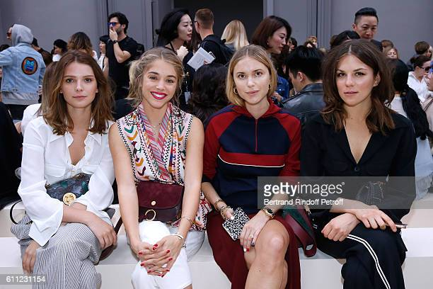 Josephine Japy Alice Isaaz Pernille Teisbaek and Morgane Polanski attend the Chloe show as part of the Paris Fashion Week Womenswear Spring/Summer...