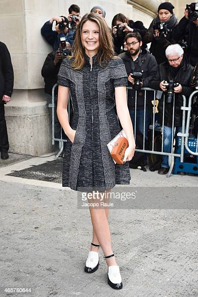 Josephine Japy arrives at Chanel Fashion Show during Paris Fashion Week Fall Winter 2015/2016 on March 10 2015 in Paris France
