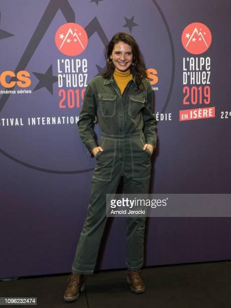 Josephine Japy attends 'Nicky Larson et le parfum de Cupidon' premiere during the 22nd L'Alpe D'Huez International Comedy Film Festival on January 18...