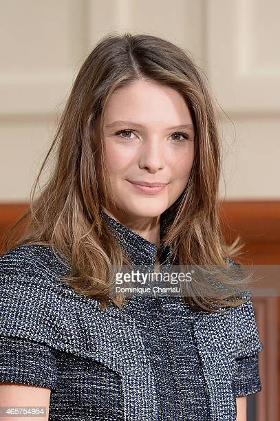 Josephine Japy attends the Chanel show as part of the Paris Fashion Week Womenswear Fall/Winter 2015/2016 on March 10 2015 in Paris France