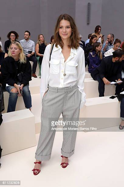 Josephine Japy attends the Chloe show as part of the Paris Fashion Week Womenswear Spring/Summer 2017 on September 29 2016 in Paris France