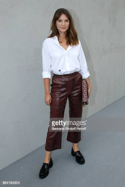 Josephine Japy attends the Christian Dior show as part of the Paris Fashion Week Womenswear Spring/Summer 2018 on September 26 2017 in Paris France