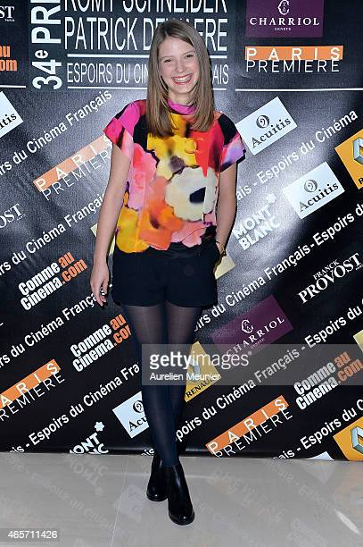 Josephine Japy attends the Romy Schneider Patrick Dewaere Award Nominees Lunch on March 9 2015 in Paris France
