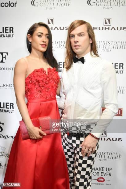Josephine Jobert and Christophe Guillarme attend the Christophe Guillarme show as part of the Paris Fashion Week Womenswear Fall/Winter 2017/2018 on...
