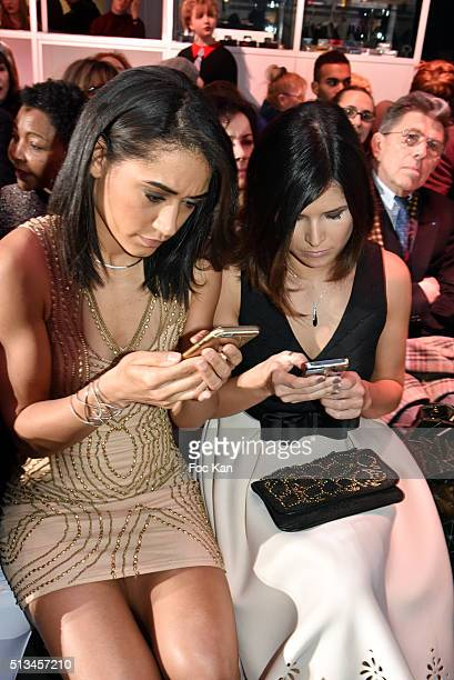 Josephine Jobert and Flavie Pean attend the Christophe Guillarme show as part of the Paris Fashion Week Womenswear Fall/Winter 2016/2017 on March 2...
