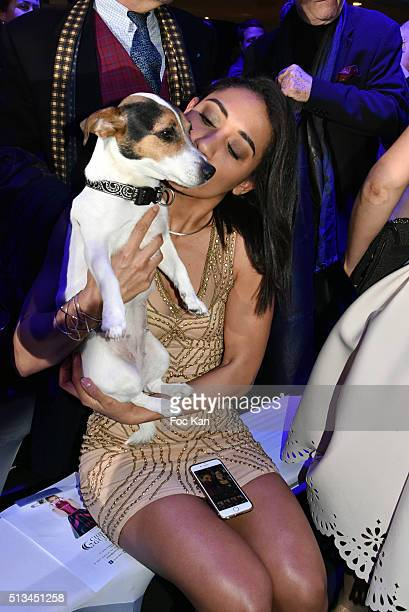Josephine Jobert and Marcellous Jones's dog Pheadra attend the Christophe Guillarme show as part of the Paris Fashion Week Womenswear Fall/Winter...