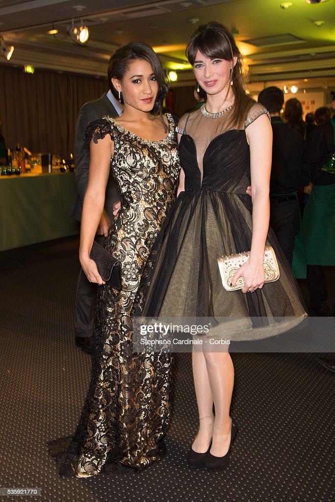 Josephine Jobert and Sarah Barzyk Aubrey attend the Sidaction Gala Dinner at Pavillon d'Armenonville, in Paris.