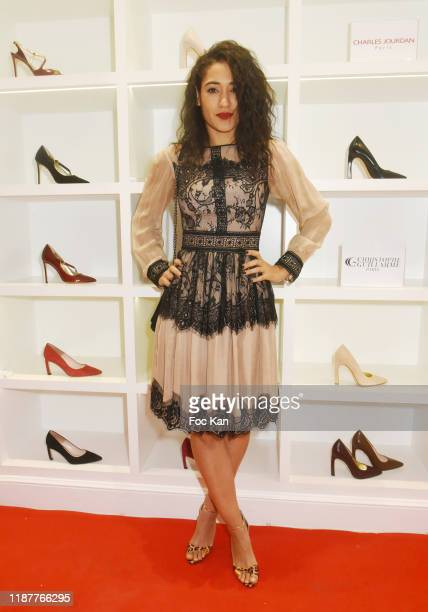 Josephine Jobert attends Charles Jourdan X Christophe Guillarme Xmas Pop Up Store Madeleine on November 14, 2019 in Paris, France.