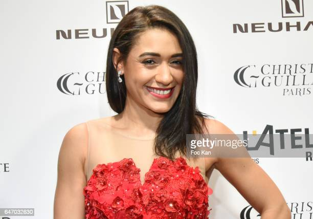 Josephine Jobert attends the Christophe Guillarme show as part of the Paris Fashion Week Womenswear Fall/Winter 2017/2018 on March 1, 2017 in Paris,...