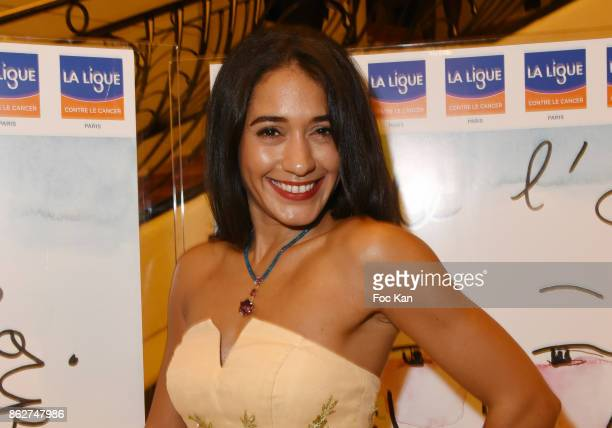 Josephine Jobert attends the 'Gala de L'Espoir' Auction Dinner Against Cancer at the Theatre des Champs Elysees on October 17 2017 in Paris France