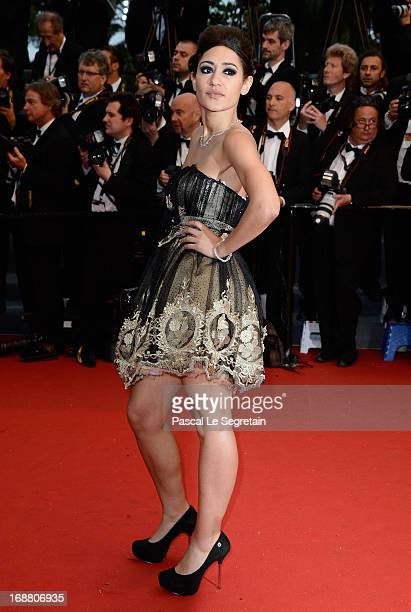 Josephine Jobert attends the Opening Ceremony and 'The Great Gatsby' Premiere during the 66th Annual Cannes Film Festival at the Theatre Lumiere on...