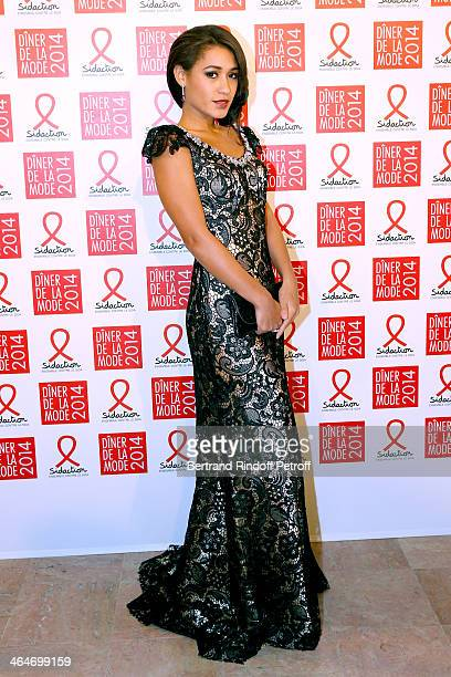 Josephine Jobert attends the Sidaction Gala Dinner 2014 at Pavillon d'Armenonville on January 23, 2014 in Paris, France