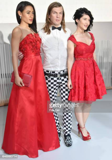 Josephine Jobert, Christophe Guillarme and Fabienne Carat attend the Christophe Guillarme show as part of the Paris Fashion Week Womenswear...